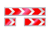 Знаки дорожные 1.34.1-1.34.3. Направление поворота