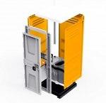 Туалетная кабина TOYPEK оранжевая в разобранном виде