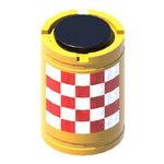 Пластиковый дорожный сигнальный буфер 580x580x825мм с маской