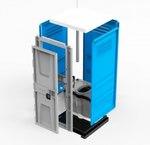 Туалетная кабина TOYPEK синяя в разобранном виде
