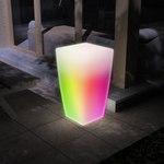 Кашпо «FLOX» со светодиодной цветной лампой