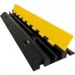 Кабель-канал (2 желоба 32*32), двужильный кабель канал. Желтая крышка / черная крышка. 900х260х50мм