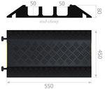 Кабель канал (3 желоба), кабельная капа, каналы 45х50 мм. 550х450х80мм