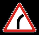Знaк 1.11.1 Опасный поворот направо