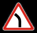 Знaк 1.11.2 Опасный поворот налево