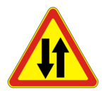 Знaк 1.21 Двустороннее движение (временный)