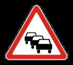 Знак 1.32 Затор