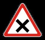 Знaк 1.6 Пересечение равнозначных дорог