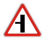 Знак 2.3.3 Примыкание второстепенной дороги