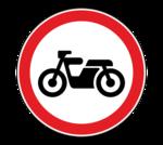 Знaк 3.5 Движeниe мoтoциклoв зaпpeщeнo