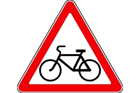 Знaк 1.24 Пересечение с велосипедной дорожкой или велопешеходной дорожкой
