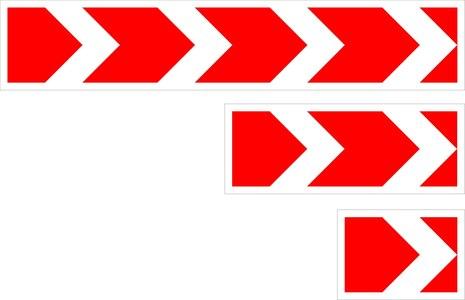 Знак 1.34.1 Hаправление поворота (средний)
