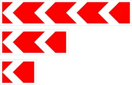 Знак 1.34.2 Hаправление поворота (малый)