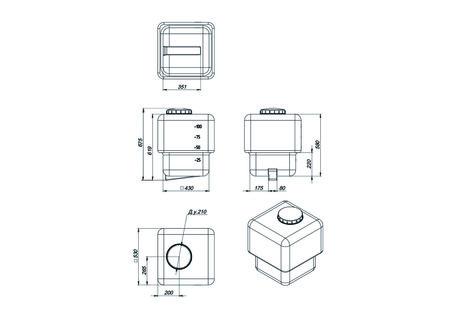 Схема промывного бака