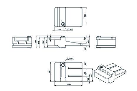 Схема емкости AGRO-300