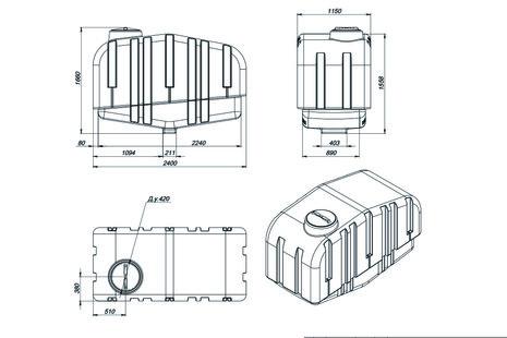 Схема емкости AGRO-3000