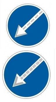 Импульсный светодиодный дорожный знак круглый (СИД 4.2.1, СИД 4.2.2)