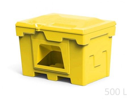 Пластиковый ящик с дозатором для соли, реагентов 500 литров