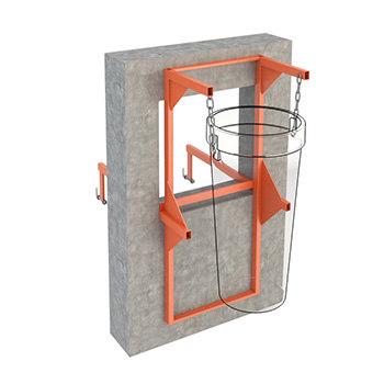 Кронштейн стеновой (оконный) для мусоросброса
