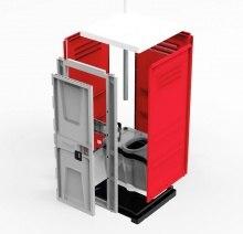 Туалетная кабина TOYPEK красная в разобранном виде