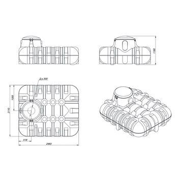 Схема накопительной подземной емкости R.3000