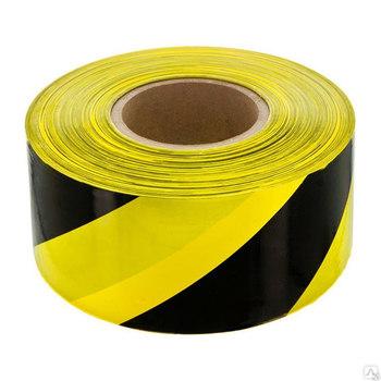 Лента оградительная черно-жёлтая, 500 п.м. х 75 мм, 50 мкм