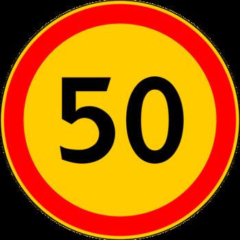 Знак 3.24 Ограничение максимальной скорости (Временный)