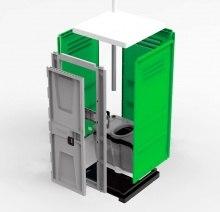 Туалетная кабина TOYPEK зеленая в разобранном виде