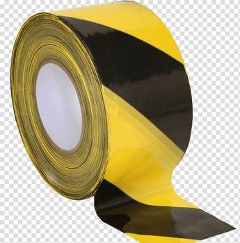 Лента оградительная черно-жёлтая, 250 п.м. х 75 мм, 50 мкм