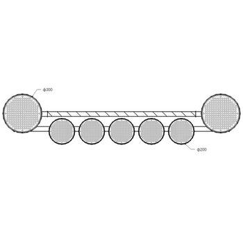 Светодиодная балка 1800мм (2 линзы 300мм + 5 линз 200мм) на каркасе с окантовкой