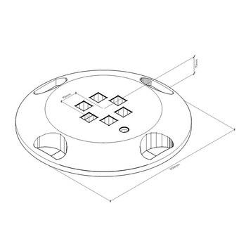 Пластиковая универсальная подставка X600 (наполнение водой, песком, резиновой крошкой, бетоном) 600 мм