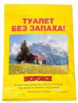 BIOFORCE Septic. Биологический очиститель дачных туалетов и выгребных ям.