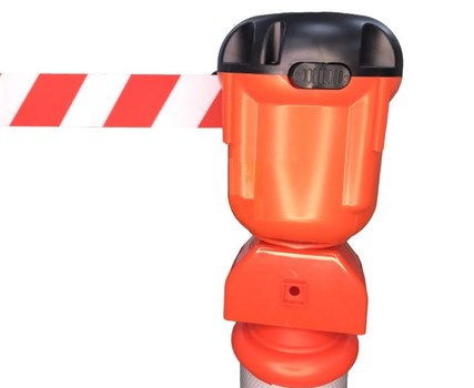 """Блок с вытяжной лентой (9 метров) для столбика """"Солдатик"""" тип 3"""