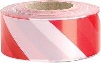 Лента оградительная красно-белая, 500 п.м. х 75 мм, 50 мкм