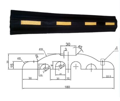 Демпфер стеновой резиновый ДСР-3. 1000х150х30мм