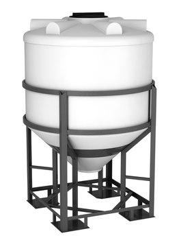 Емкость ФМ-1000 с конусным дном с обрешеткой (емкость полного слива)