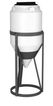 Емкость ФМ-120 с конусным дном с обрешеткой (емкость полного слива)