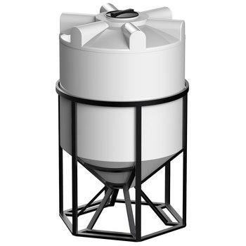Емкость К-2000 с конусным дном с обрешеткой (емкость полного слива)