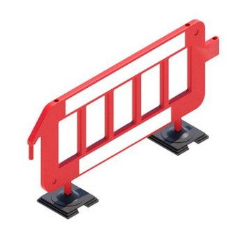 Пластиковый барьер штакетного типа P2000. Размер 2000 х 1000 мм