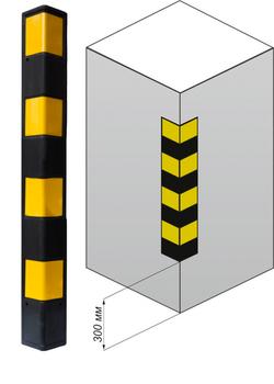 Демпфер угловой резиновый прямой ДУ-12. 900х100х12мм