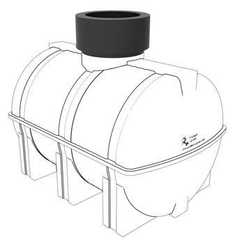 Емкость с удлиняющей горловиной D-300