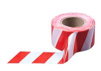 Лента оградительная красно-белая, 250 п.м. х 75 мм, 50 мкм