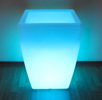Кашпо «FLOX» малое со светодиодной цветной лампой