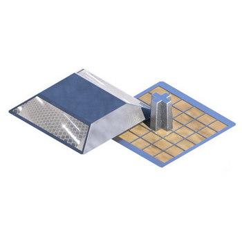 Катафот световозвращающий алюминиевый КД-3 ГОСТ 32866-2014 двухсторонний белый