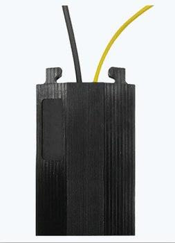 Черный кабель-канал резина, канал 39х13мм