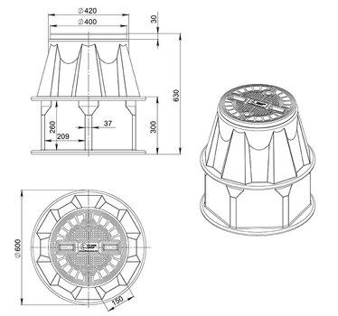 Кабельный колодец связи КС-2.2