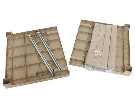 Комплект пластикового стола Орфей 140х80 см