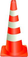 Конус дорожный сигнальный мягкий 750-М с тремя светоотражающими полосами