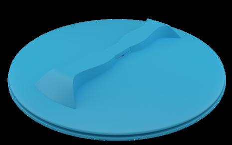 Синяя крышка с дыхательным клапаном 350 мм
