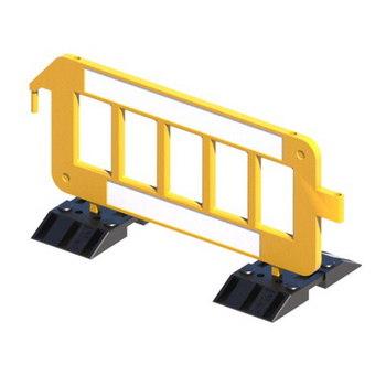 Пластиковый барьер штакетного типа P2000 на утяжеленных опорах К1. Размер 2000 х 1000 мм